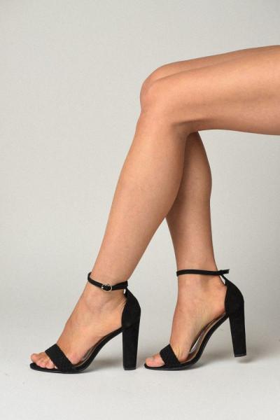 Slika Sandale na štiklu 8158-B550 crne