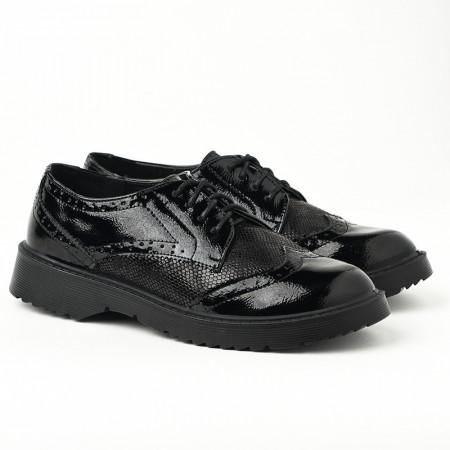 Slika Ženske cipele na pertlanje L081926 crne