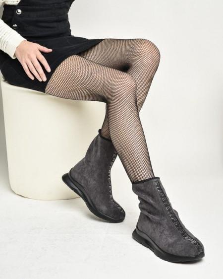 Slika Čarapa čizme na modernom đonu W1786A-9141 sive