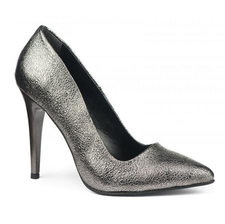 Slika Cipele na štiklu sa šljokicama 5010 srebrne