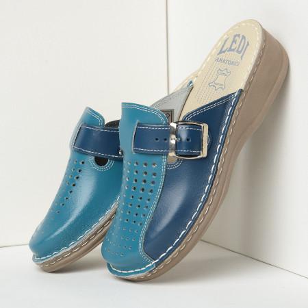 Slika Kožne papuče 671 plave