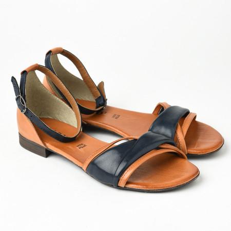 Slika Kožne ravne sandale 225170 teget
