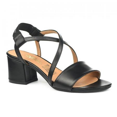 Slika Kožne sandale na škilu 9-832 crne