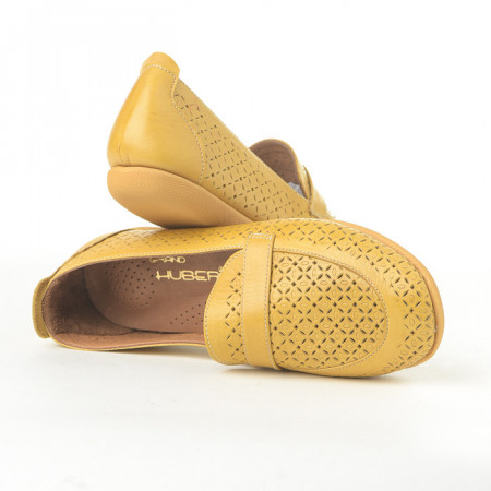 Slika Kožne ženske cipele/mokasine 004 žute