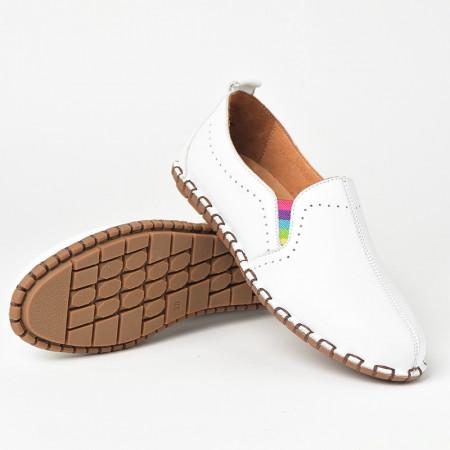 Slika Lagane kožne cipele S19602 bela
