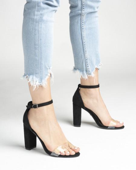 Slika Sandale na štiklu LS242038 crne