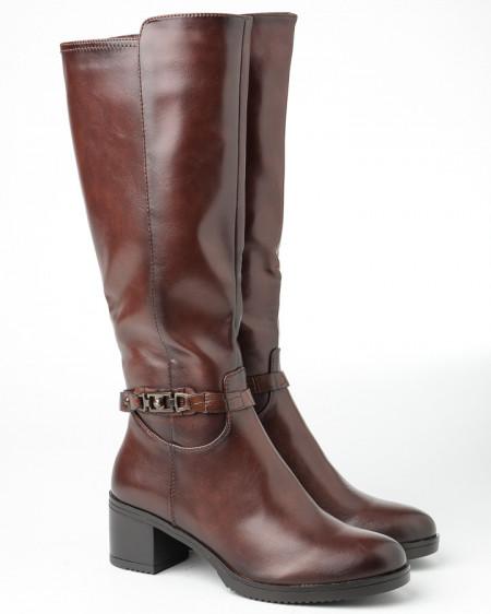 Slika Ženske čizme na malu štiklu A2050 braon