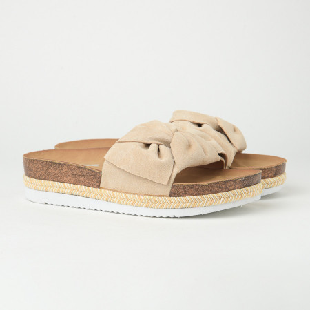 Slika Ženske papuče na debelom đonu LP055600 bež