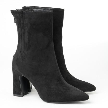 Slika Ženske poluduboke čizme A152 crne