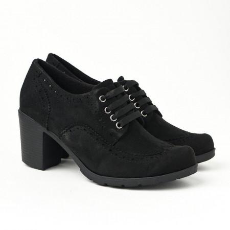 Slika Jesenje cipele na petu 2360-843 crne