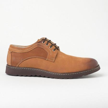 Slika Kožne muške cipele 7013-023 kamel