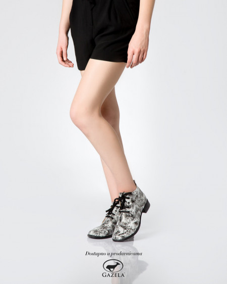 Slika Kožne ženske cipele 2-901 belo/sive