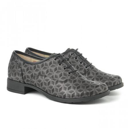 Slika Kožne ženske cipele A13-37/ crne