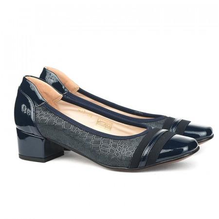 Slika Kožne ženske cipele M977 teget