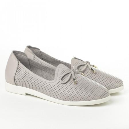 Slika Kožne ženske cipele/mokasine Y2278-084 krem