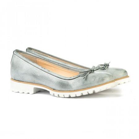 Slika Kožne ženske cipele S208 svetlo plave