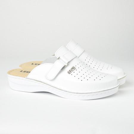 Slika Muške kožne papuče/klompe V230 bele