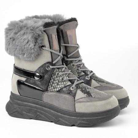 Slika Tople čizme A405 sive
