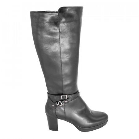 Slika Ženske čizme na debelu štiklu A2040 crne