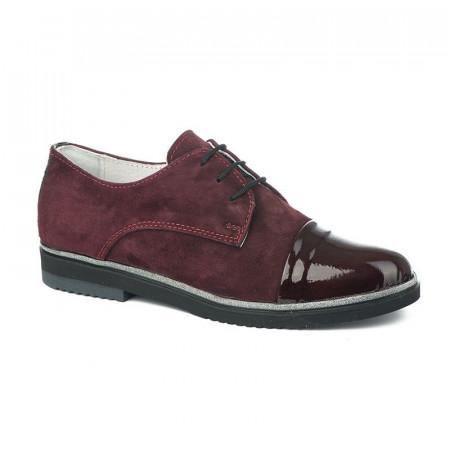 Slika Ženske kožne cipele 6132 bordo