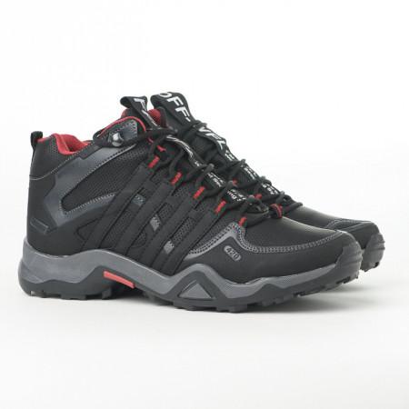 Slika Zimske duboke cipele / patike 3014 crne sa crvenim detaljima (brojevi od 36 do 44)