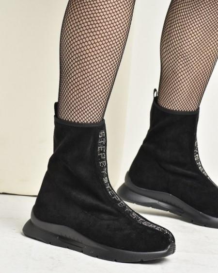 Slika Čarapa čizme na modernom đonu W1786A-9141 crne