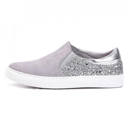 Slika Espadrile / patike za devojčice C251902 sivo/srebrne