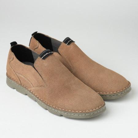 Slika Kožne muške cipele/mokasine 2819 kamel