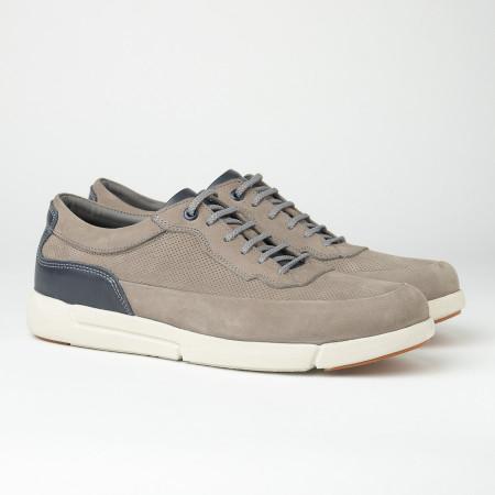 Slika Kožne muške patike/cipele SF401-3 sive