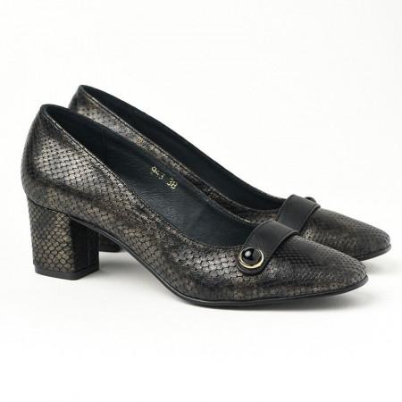 Slika Kožne ženske cipele 17-943 KOŽA crne