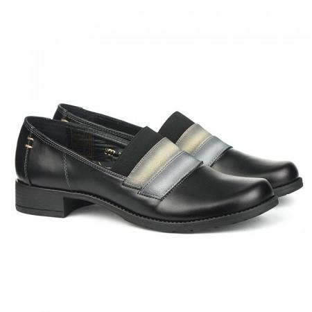 Slika Kožne ženske cipele 2-807 crne