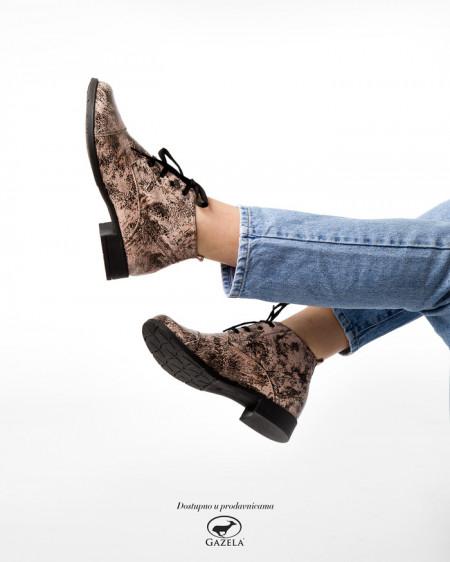 Slika Kožne ženske cipele 2-901 roze