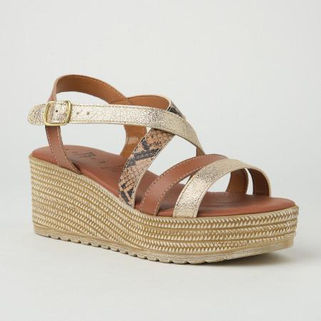 Slika Kožne ženske sandale KT45 braon