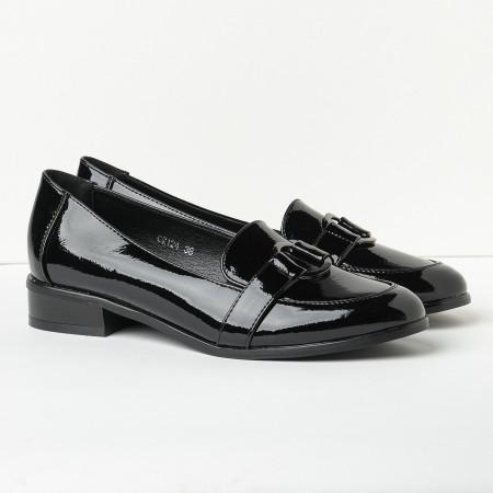 Slika Lakovane cipele na malu petu C2124 crne