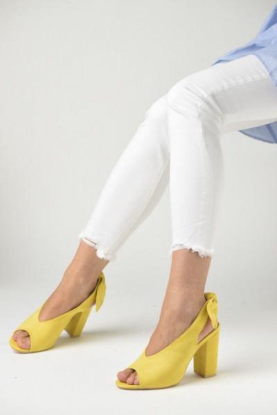 Slika Sandale na štiklu LS391907 žute
