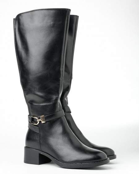 Slika Ženske čizme na malu štiklu A2070 crne