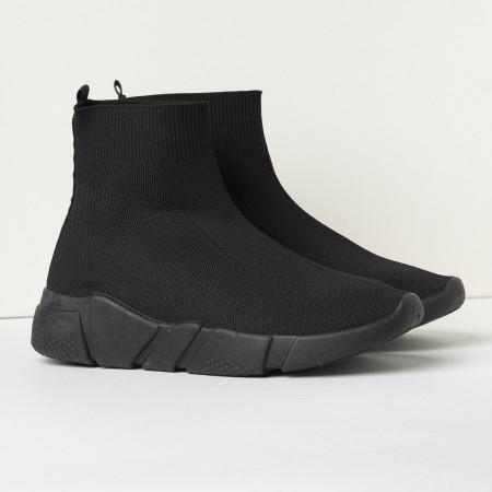 Slika Čarape patike 42200 crne sa crnim đonom