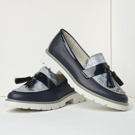 Slika Cipele na malu petu C2120 teget