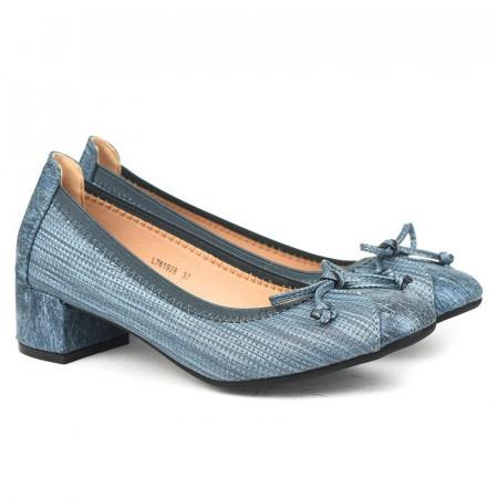 Slika Cipele na malu štiklu L761928 plave