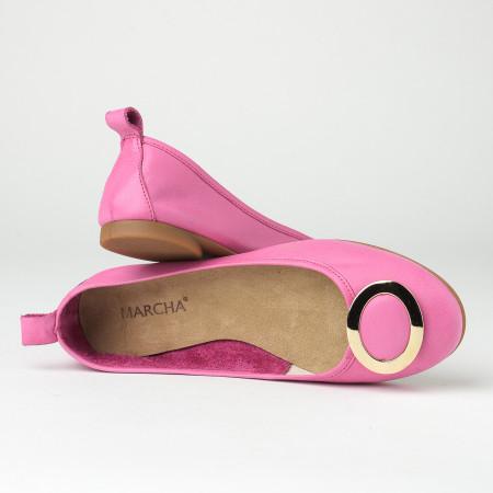 Slika Kožne ženske baletanke BT2017 pink