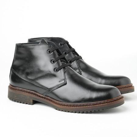 Slika Muške kožne cipele 8141-01 crne