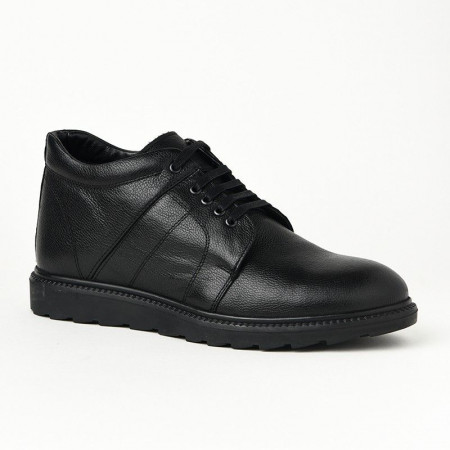 Slika Muške kožne duboke cipele P30652 crne