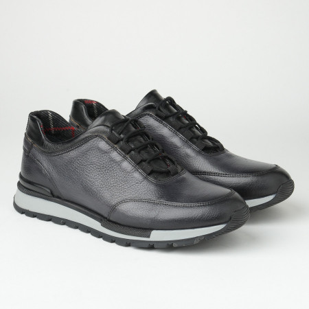 Slika Muške kožne patike/cipele F6827/1355 crne