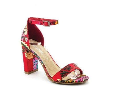 Slika Sandale na štiklu LS91556 crvene