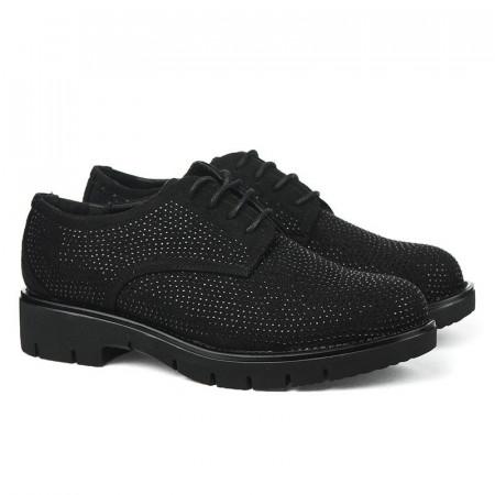 Slika Ženske cipele sa kristalima L85400 crne