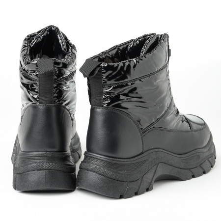 Slika Ženske postavljene čizme A411 crne