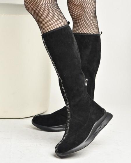 Slika Čarapa čizme na modernom đonu W1786A-91121 crne