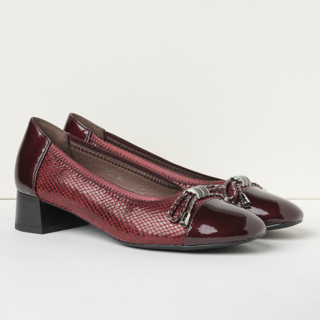 Slika Cipele na malu štiklu C2139 bordo