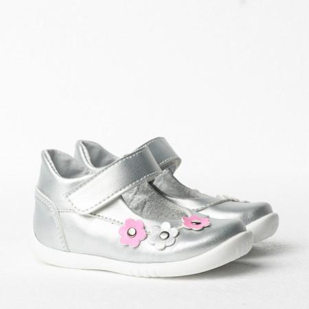 Slika Dečije cipele sa anatomskim uloškom 1025/1 srebrna