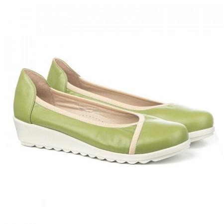 Slika Kožne cipele na ortoped petu 3100 zelene